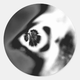 Round Negative Eye Round Sticker