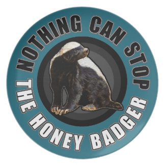 Round Nothing Can STOP the Honey Badger Design Party Plate