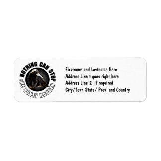 Round Nothing Can STOP the Honey Badger Design Return Address Label