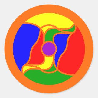 Round Optoskept Mandala Sticker