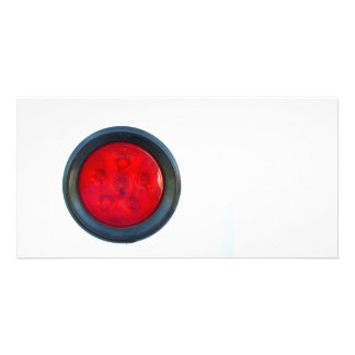 round orange taillight auto part photo card template