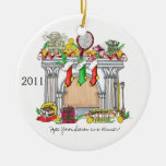 Round Ornament, Tennis Mantel, 2011 Round Ceramic Decoration