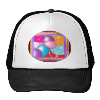 ROUND Oval DISCS Colorful Crazy EDITABLE ADD TEXT Trucker Hats