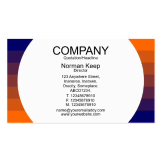 Round Panel - Colour Transition 03 Pack Of Standard Business Cards