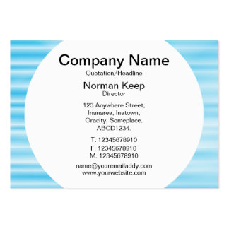 Round Panel - Corrugated Blue Business Cards
