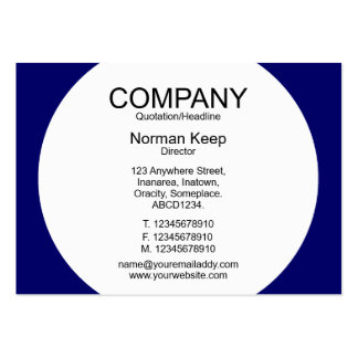 Round Panel - White with Dark Blue 000066 Business Cards