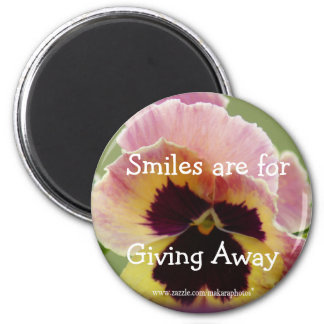 round Pansy Magnet- customize as you wish Magnet