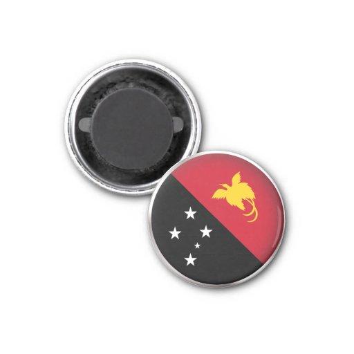 Round Papua New Guinea Refrigerator Magnets