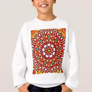 Round pattern sweatshirt