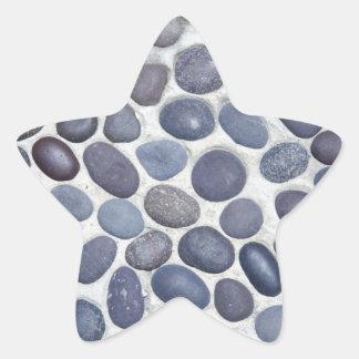 round pebbles star sticker