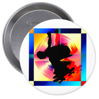 Round Peg in a Square Hole Skateboarding Buttons