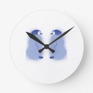 Round Penguin Medium Wall Clock