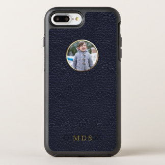 Round Photo Frame Navy Symmetry iPhone 7 Plus Case