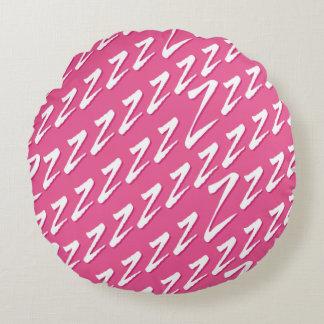 Round Pink Catching Z's Round Cushion
