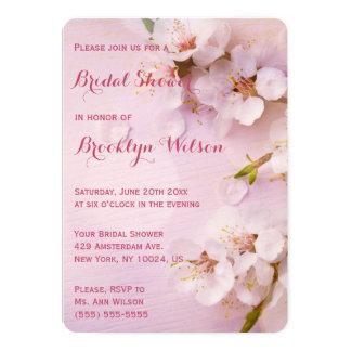 Round Pink Cherry Blossom Bridal Shower Invitation
