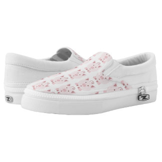 Round Pink Pig Pattern Slip-On Shoes