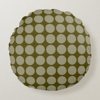 Round Polka Dot Accent Pillow