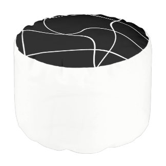 "Round pouf ""Abstract lines"""