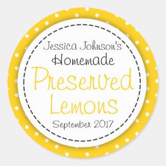 Round Preserved Lemons jam jar food label