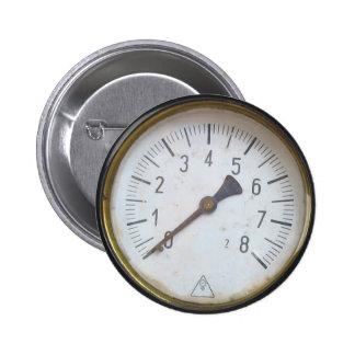 Round Pressure Gauge Meter Dial Pins