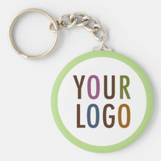 Round Promotional Keychain Company Logo No Minimum