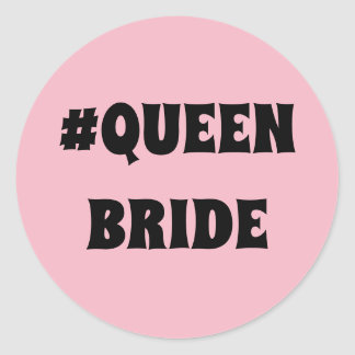 Round Queen Bride sticker