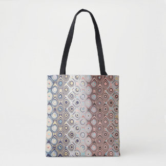 Round Retro Rings Tote Bag