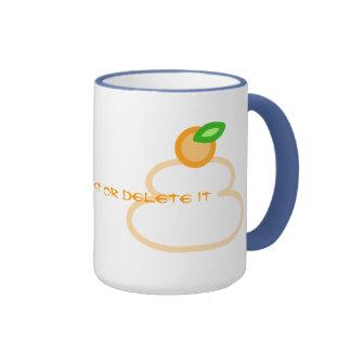 Round rice-cake (kagami mochi) ringer mug