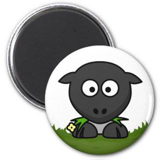 Round Sheep 6 Cm Round Magnet