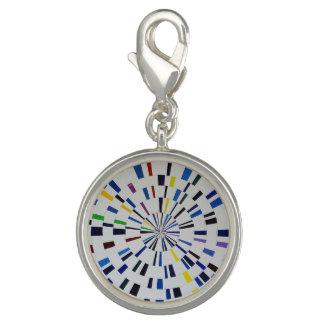 Round Silver Charm  - Delta - Modern Art