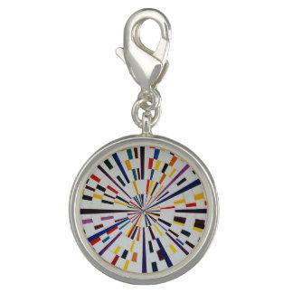 Round Silver Charm  - Seizure - Modern Art