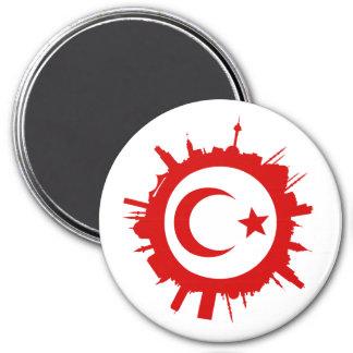 round skyline Istanbul Magnet