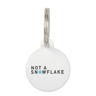 Round Small Pet Tag No Snowflake - CUSTOMIZE IT