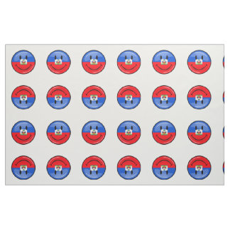 Round Smiling Haitian Flag Fabric
