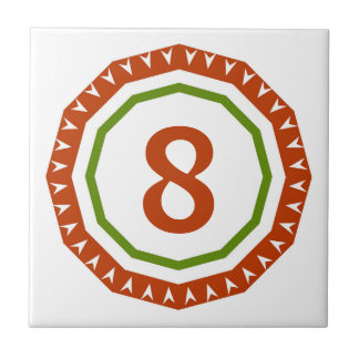 Round Spanish Letter House Number Tiles