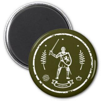 Round Stamp Medieval Knight - Magnet