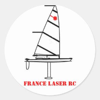 Round sticker LASER FRANCE RC