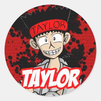 Round Sticker Taylor