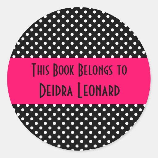 Round Sticker-This Book Belongs To