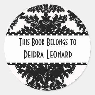 Round Sticker-This Book Belongs To Round Sticker