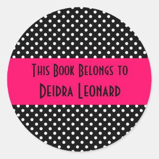 Round Sticker-This Book Belongs To Classic Round Sticker