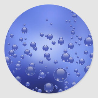 "Round stickers "" Water bubbles """