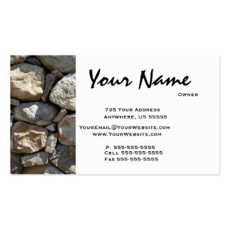 Round  Stone Masonry Business Cards