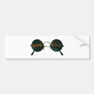 Round Sunglasses Bumper Sticker