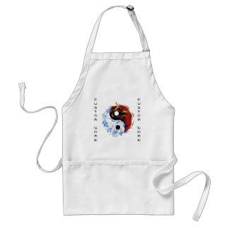 round symbol template adult apron