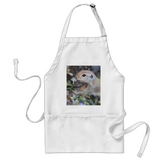 Round Tail Ground Squirrel Smelling the Flowers Standard Apron