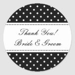 Round Thank you stickers for wedding favours