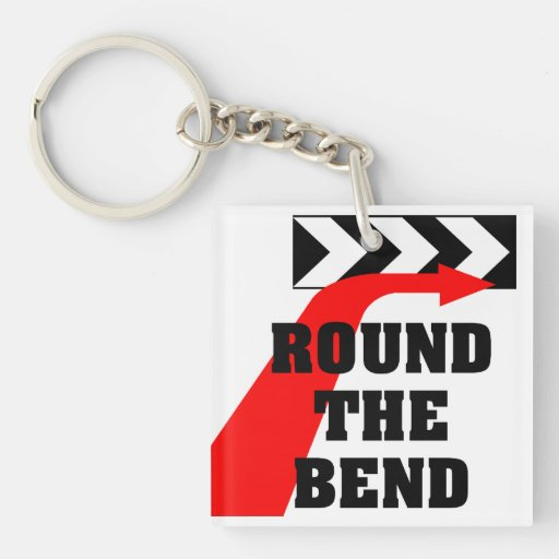 Round The Bend Acrylic Keychain