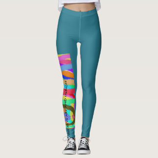 Round The Circle Design, by Mickeys Art And Design Leggings