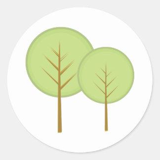 Round Trees Classic Round Sticker